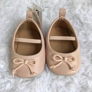 Infant NWT Old Navy Ballet Flats Sz 0-3 Month